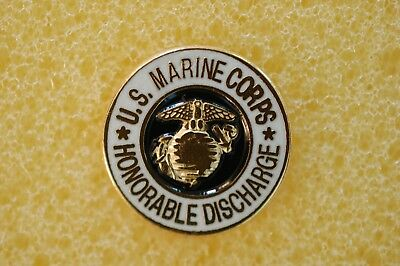 US USA USMC Marine Corps Honorable Discharge Military Hat Lapel Pin