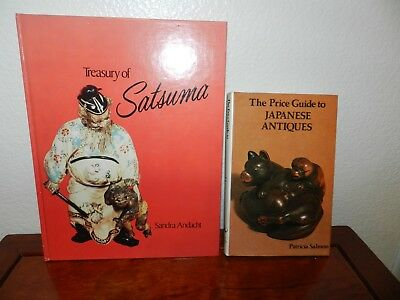 LOT OF 2 HARDCOVERS  TREASURY OF SATSUMA and PRICE GUIDE TO JAPANESE ANTIQUES