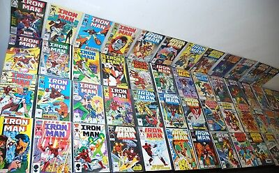 1985-90 Marvel Invincible Iron Man #200-253 High Grade Lot Complete Run Nm B7
