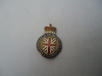 Antique Daughters Of The British Empire In USA 1920 Crown Pin Enameled