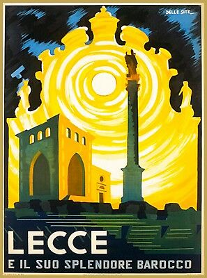 Lecce Italy Europe Vintage Travel Wall Decor Advertisement Art Poster Print