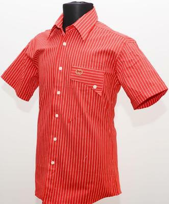 fa00e7867 NEW GUCCI MENS shirt Size L Red Short Sleeve Cotton Blend -  41.00 ...