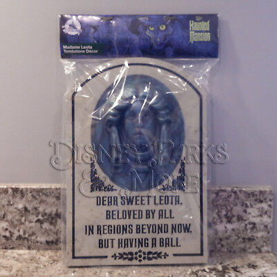 Disney Parks Haunted Mansion Madame Leota 3D Tombstone Grave for Yard
