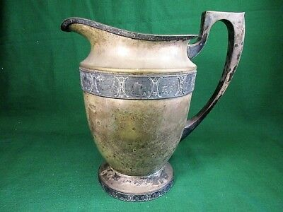 Antique Bernard Rice's Sons Inc EPNS Silverplate Apollo Pitcher # 3309