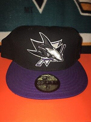 be7c2a319 SAN JOSE SHARKS NHL New Era Fitted Hat Cap Size 7 1/2 - $10.00 ...