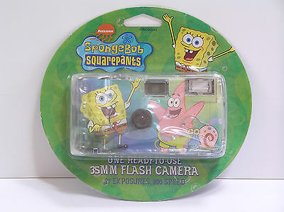 Spongebob Squarepants 35mm Flash Camera NEW 2003 Sealed MIB Rare