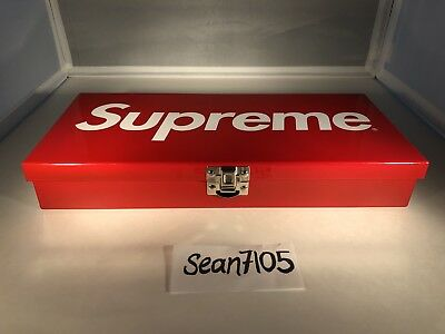 SUPREME Large Metal Storage Box Red SS17 Accessories Rare BRAND NEW