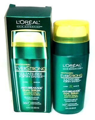 1 Loreal Hair EVER STRONG Sulfate Free Fortify System Anti-Breakage Dual Serum