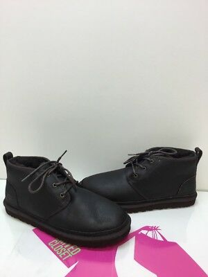 01adbe6aadc UGG Australia 'Neumel' Dark Brown Leather Lace Up Ankle Boots Men's Size 12