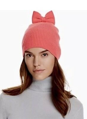 98f8d85dc60ec NWT KATE SPADE New York Knit Bow Hat Pink Beau Beanie -  23.00 ...