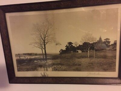 G.w. Bohde Pencil Original Etching ~  Signed And Dated 1890