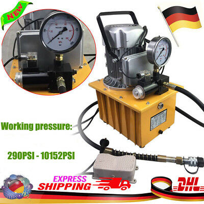 Electric Driven Hydraulic Pump Pedal Solenoid Valve Controlled 10000 PSI 220V DE