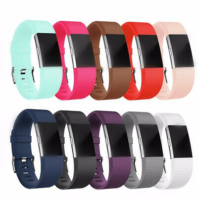 Replacement Strap Bracelet Silicone Watch Band Wrist Strap For Fitbit Charge 2