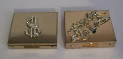 Lot Of 2 Vintage Petty Cash Coin Holders Bowling & Cash Bright Brass Finish