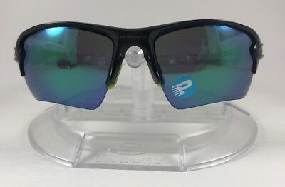 ba44476212 New Oakley Flak 2.0 XL Sunglasses Black Ink w  Jade Iridium Polarized  OO9188-09