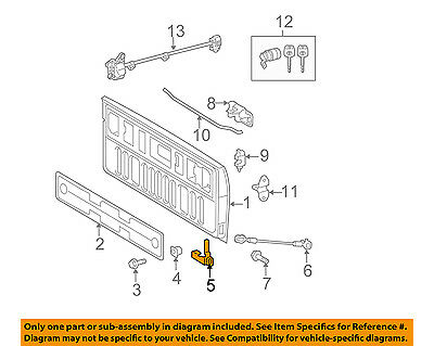 toyota oem 07 16 tundra tail gate tailgate hatch hinge right rh picclick com toyota surf tailgate wiring diagram Chevy Silverado Tailgate Parts Diagram