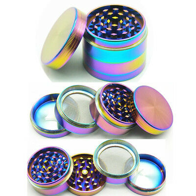 4-layer Multicolor Alloy Aluminum Herbal Herb Tobacco Grinder Smoke Grinders