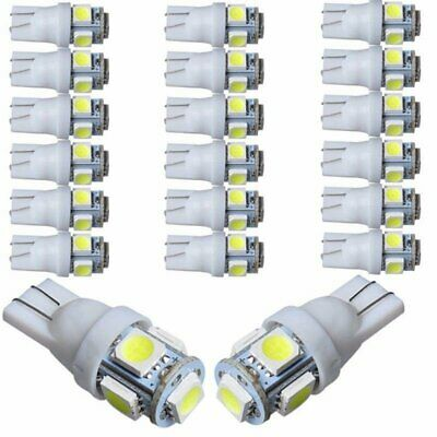 50PC T10 5050 5-SMD  LED Car Light Wedge Lamp Bulb Super Bright DC12V White