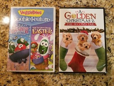 lot of 2 two kids dvds veggietales and a golden christmas 2 new - A Golden Christmas 2