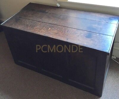 Antique Vintage Trunk Victorian (?) Wooden Chest - Collection Only