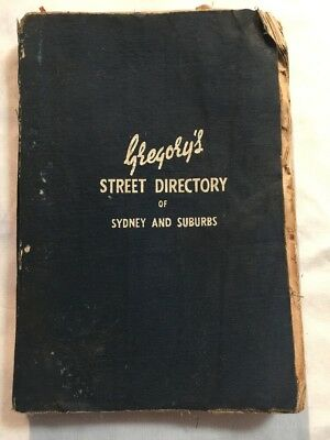 Vintage Gregory's Sydney And Suburbs Refidex Street Directory 25th Edition