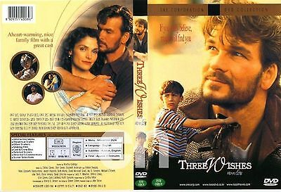 Three Wishes 1995 - All Region Compatible Patrick Swayze NEW DVD