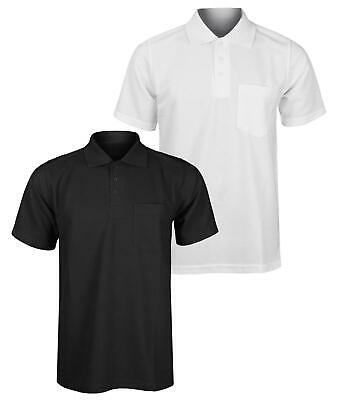 New Men Polo Shirt With Front Pocket Work Leisure golf  sport  Wear