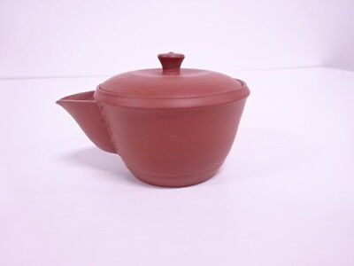 3677181: Japanese Tea Ceremony / Tokoname Ware Handleless Tea Pot / Red Clay / H