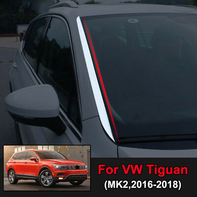 For VW Tiguan MK2 2nd Gen 2016-2019 Chrome Front Window Windscreen Trim Cover