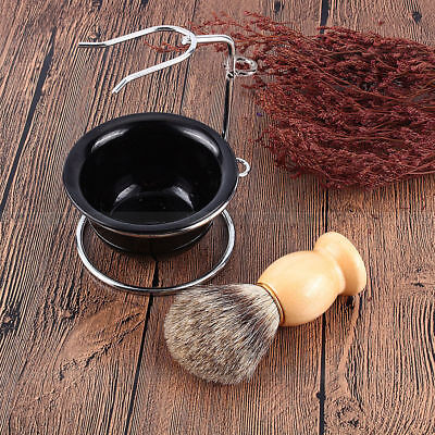 Kit Morbido Pennello da barba Tasso Shaving Brush Razor Stand Ciotola