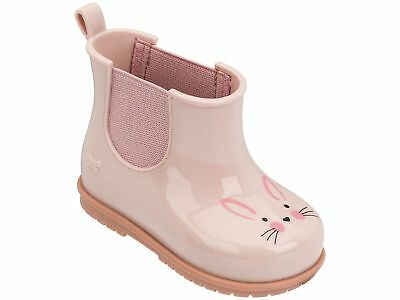 Girls Blush Pink Zaxy Joy Rabbit Short Chelsea Gum Boots Size UK Infant 4 - 8