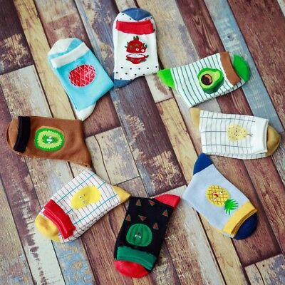 Cotton Cute Fruit Print Women's Socks Retro Embroidery Long Colorful Funny Gift