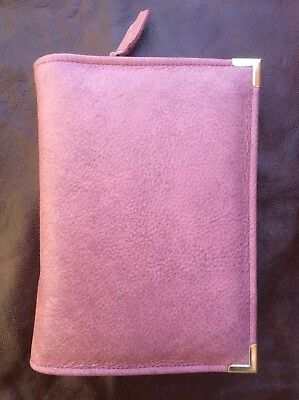 Genuine Pink  leather  bible cover for New World Translation (DLbi12-E)