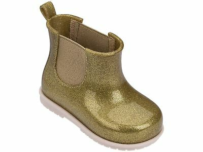 Girls Gold Glitter Zaxy Joy Short Chelsea Gum Boots Size UK Infant 4 - 8