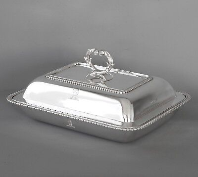 A Fine Georgian Silver Entree Dish London 1810 by John Foskett & John Stewart