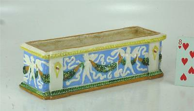 Beautiful Italian Majolica Classical Planter Box Itily Pottery