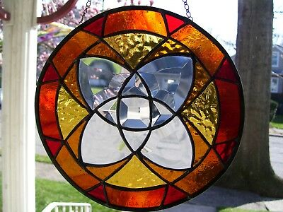 Stained Glass Moms Bevel Gem  Sun-catcher (Real Glass)