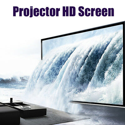 120'' Projector Projection Screen 16:9 White Matte 3D HD Home Cinema Theater UK
