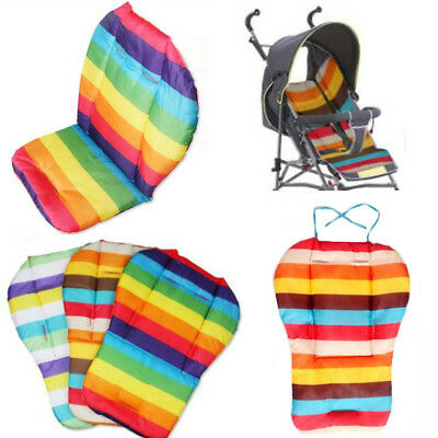 Baby Stroller High Chair Seat Pad Cushion Cover Rainbow Seat Liners Breathable