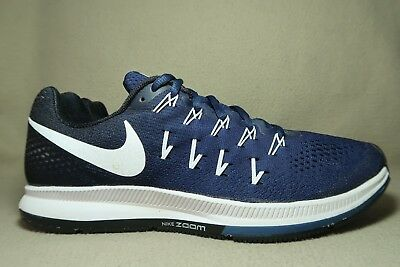 competitive price 2cc3f 8c314 NIKE AIR ZOOM PEGASUS 33 TB Mens BlackBlue Running Trainers UK 9EU