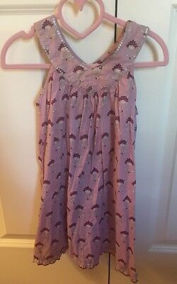 68e0b3fc1 Pink Chicken Dress Size 4y EUC summer boutique Plum With Silver 100% Cotton