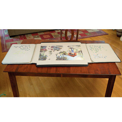 Wooden Fold And Go Jigsaw Table Collapsible Puzzle Table And