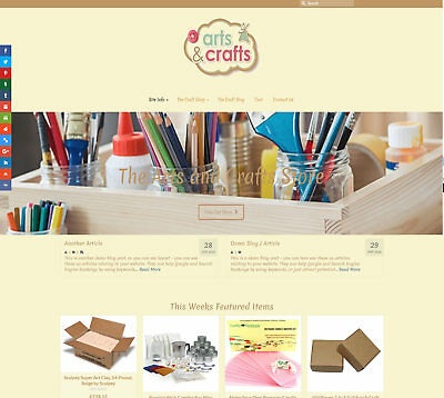 Stocked / Automated ARTS & CRAFTS web business  FREE Domain/Hosting/SSL/SEO