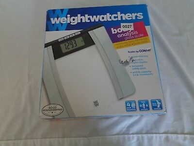 Weight Watchers 24 TR Clear Glass Scale - Conair (D4-27)