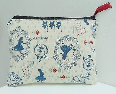 e499ba3c5d Handmade Alice In Wonderland Small Makeup Bag