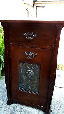 Antique art nouveau coal box / purdonium / scuttle
