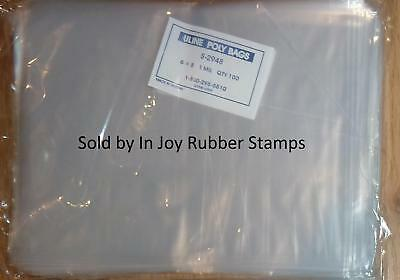 """Uline 6x8"""" Clear Flat 1 Mil Poly Bags S-2948 FREE US Shipping"""