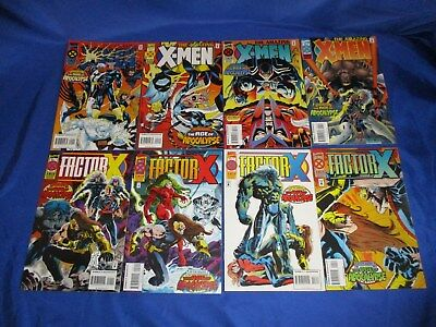 Amazing X-Men (1995) #1-4 & Factor X (1995) #1-4 1st Print Age of Apocalypse NM-