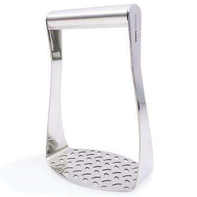 Heavy Duty Potato Masher (Stainless Steel) Wide Efficient Innovative Design