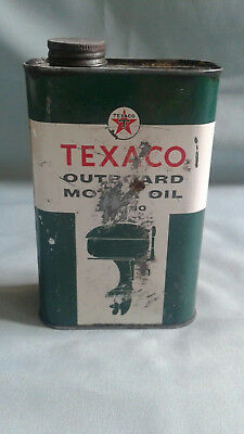 1950's Texaco Outboard Motor Oil-Sae 30-  One Quart-Tin with original lid.